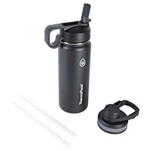 Thermoflask 50055 Double Stainless Steel Insulated Water Bottle, 18 oz, Black