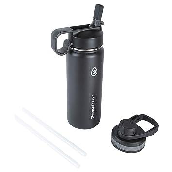 Amazon.com: Thermoflask - Botella de agua aislada, Negro ...