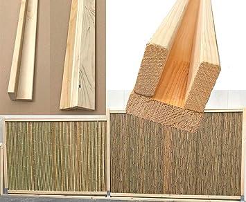 Bambus Zaun U Profil Set Oben Unten Mit 300x7x7 5cm Fur Bambusmatte