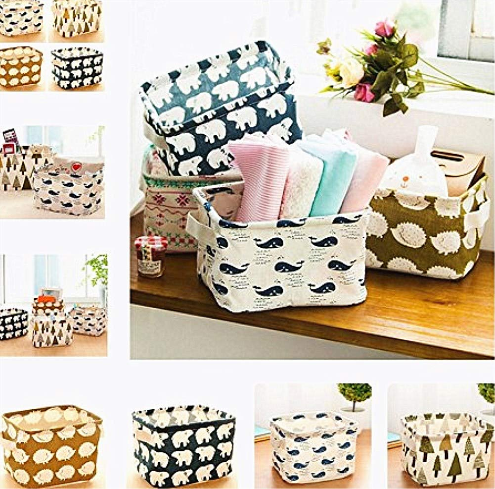 libros y m/ás Wakerda juguetes para ni/ños Caja de almacenamiento cuadrada rectangular plegable de lona con 2 manos en ambos lados para ropa