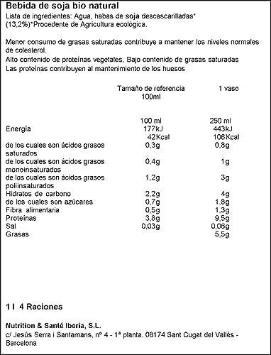 Gerblé - Soja - Bebida De Soja Bio Natural - 1 L - [Pack de 3]