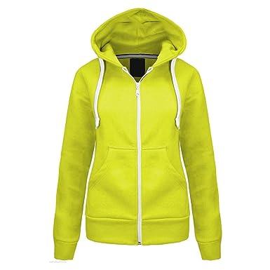 Trends Fashions Made by Malaika® New Womens Long Sleeve Plain Malaika Hoodie  Hooded Zip up Hoody Ladies Corded Pockets Fleece Jacket Girls Sweatshirt  Jumper ... 29ef613b4