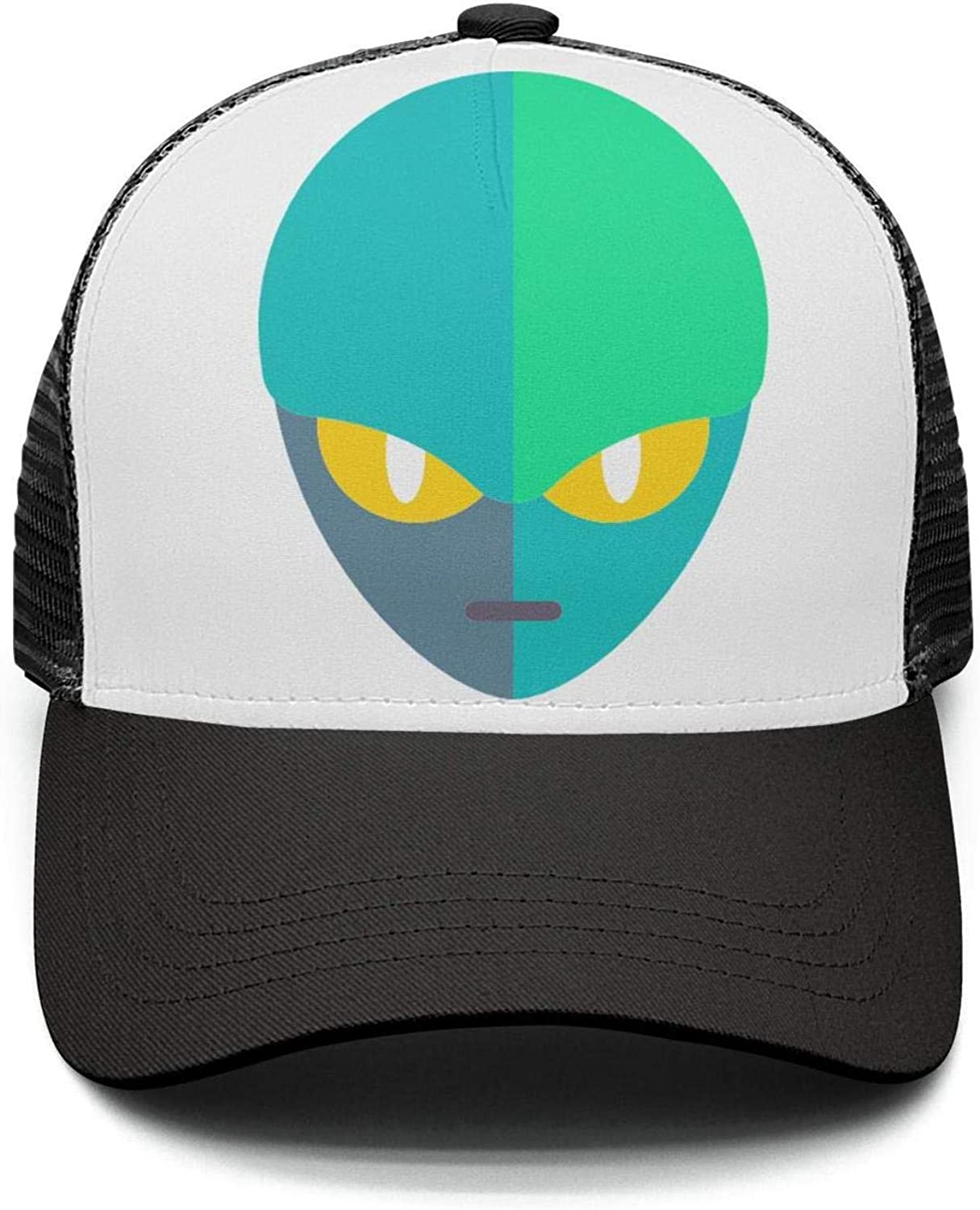 Unisex Adjustable Meshback Sandwich Hats Galaxy Space Snapback Trucker Caps