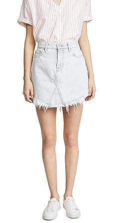 19775722e1 7 For All Mankind Women's Scallop Frayed Hem Jean Skirt, Desert Sun  Bleached, ...