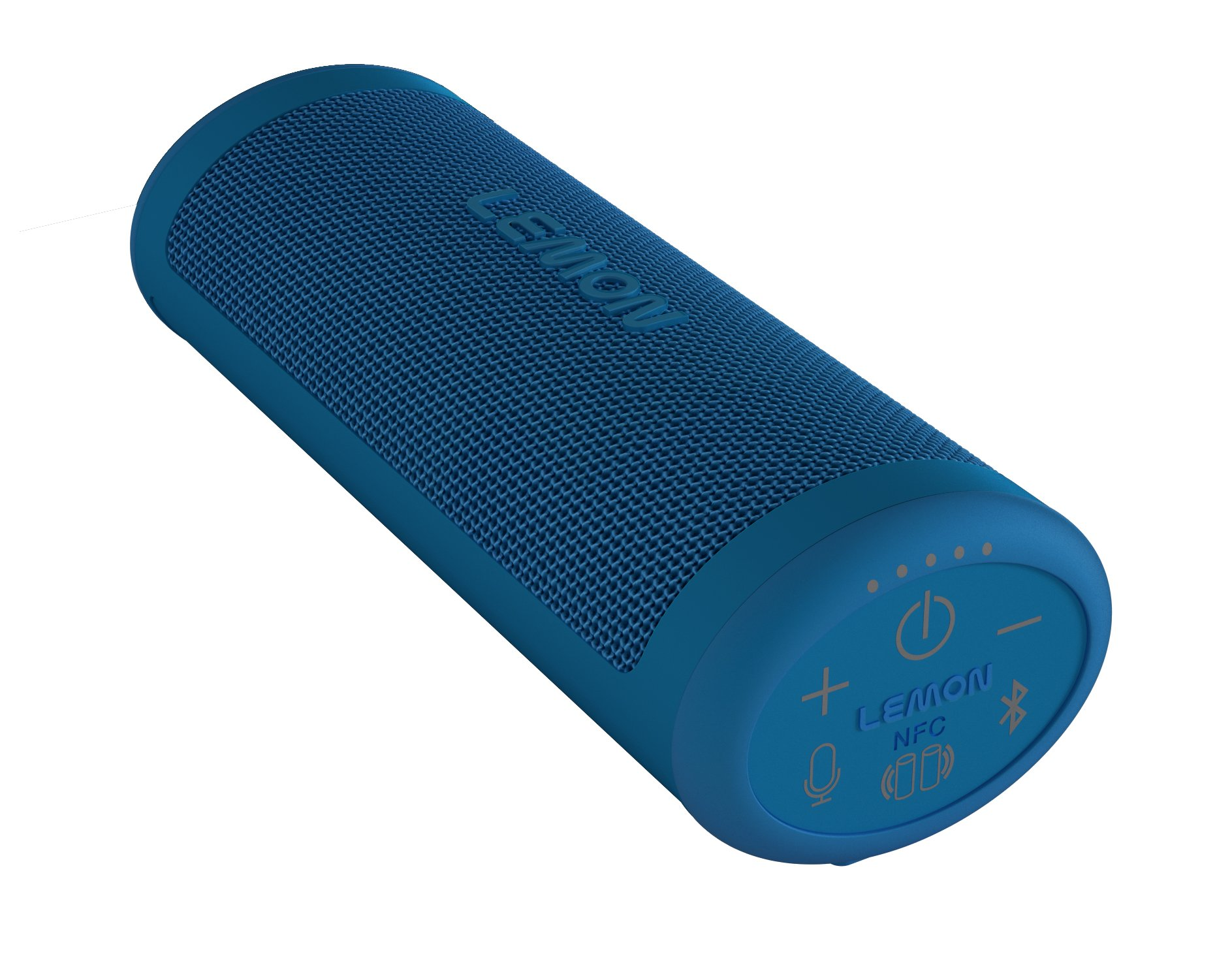 LEMON - California Roll 24/7 Solar Powered Waterproof Portable Wireless Speaker - Blue by LEMON