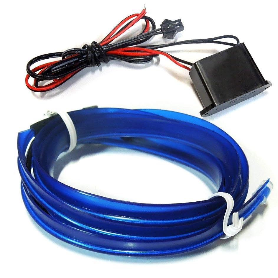 魔術泥だらけ販売計画LED チューブライト テープライト 30cm シリコン 防水 間接照明 デイライト ウィンカー テールランプ 汎用 ネオン 【ブルー】