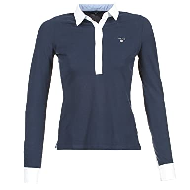 Gant Womens Oxford Pique Rugger LS, Polo para Mujer, Azul ...