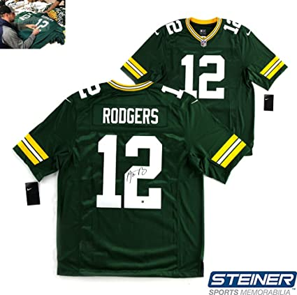 Image Unavailable. Image not available for. Color  Aaron Rodgers  Autographed Signed NFL Green Bay Packers Green Nike Limited Jersey 09ed7e26a