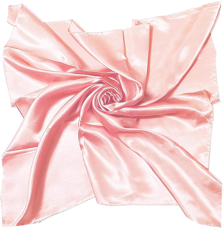 Satin Silk Large 90 cm X 90 cm Square Plain Nautical Head Neck Scarf Wrap 28 Colours