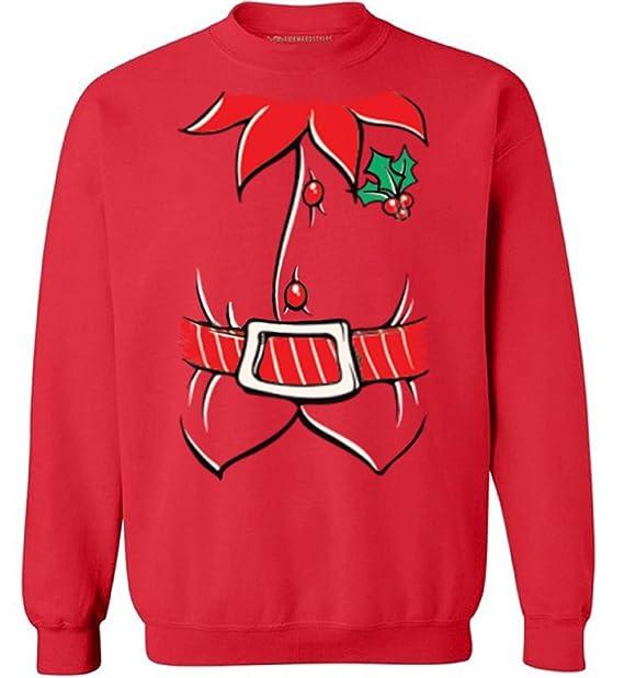 Amazon.com: Awkward estilos Navidad Sudadera duende de la ...