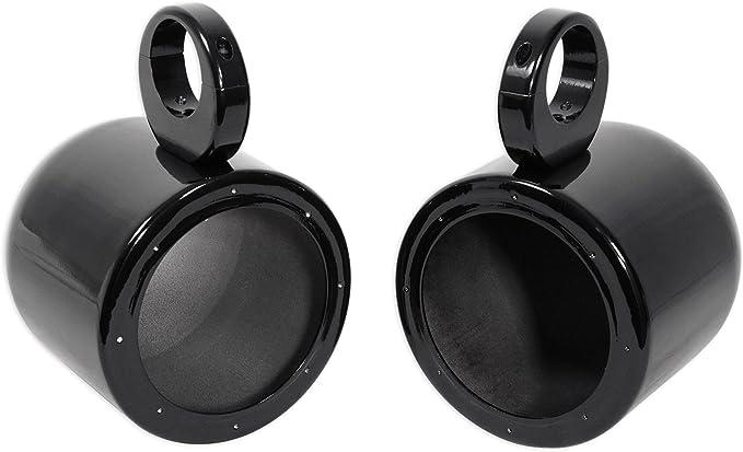 "Pair Rockville MAC9B 9.9"" Black Aluminum Wakeboard Tower Speaker Pod  Enclosures"