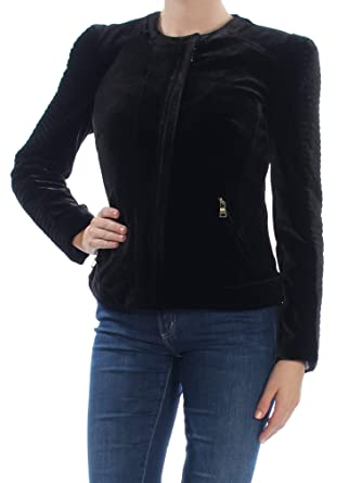 9b7e4a43d40 Amazon.com  INC International Concepts Women s Velvet Moto Jacket  Clothing