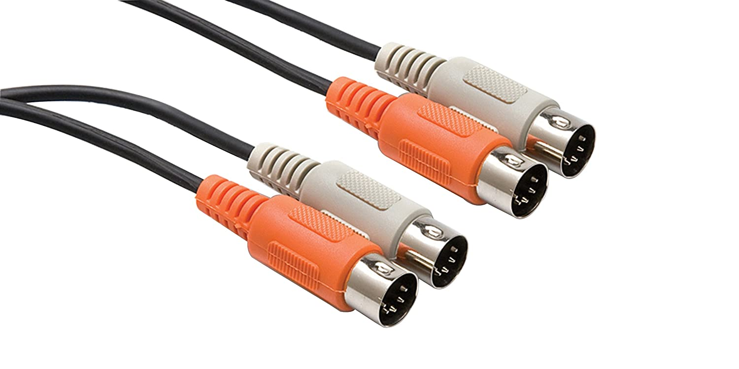 Hosa MID-203 Dual 5-pin DIN to Dual 5-pin DIN Dual MIDI Cable, 9.8 feet MID203