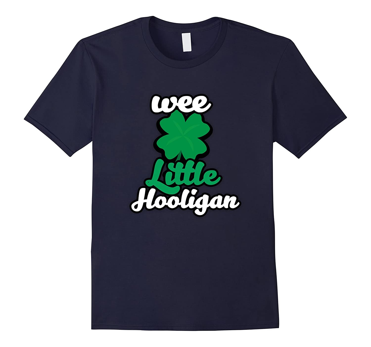 Wee Little Hooligan Funny St Patricks Day T-shirt for kids-CD