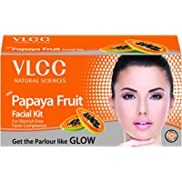 VLCC Papaya Fruit Facial Kit, 60g with Free White & Bright Glow Gel Cream 20G