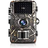 Trail Camera with 12MP and 1080P Hunting Cameras with No-Glow Infrared Night Vision Hunting Camera for Wildlife…