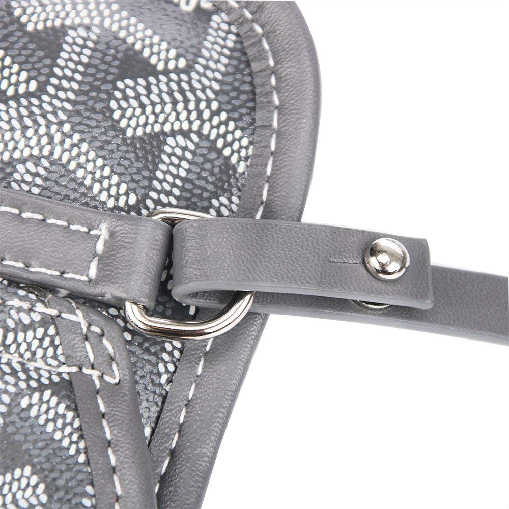Stylesty Fashion Shopping PU Tote Bag, Designer Shoulder Handbags with Key Ring (Large, Grey) by Stylesty (Image #3)