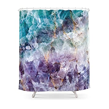 purple and turquoise shower curtain. Society6 Turquoise  Purple Quartz Crystal Shower Curtain 71 Quot Amazon Com