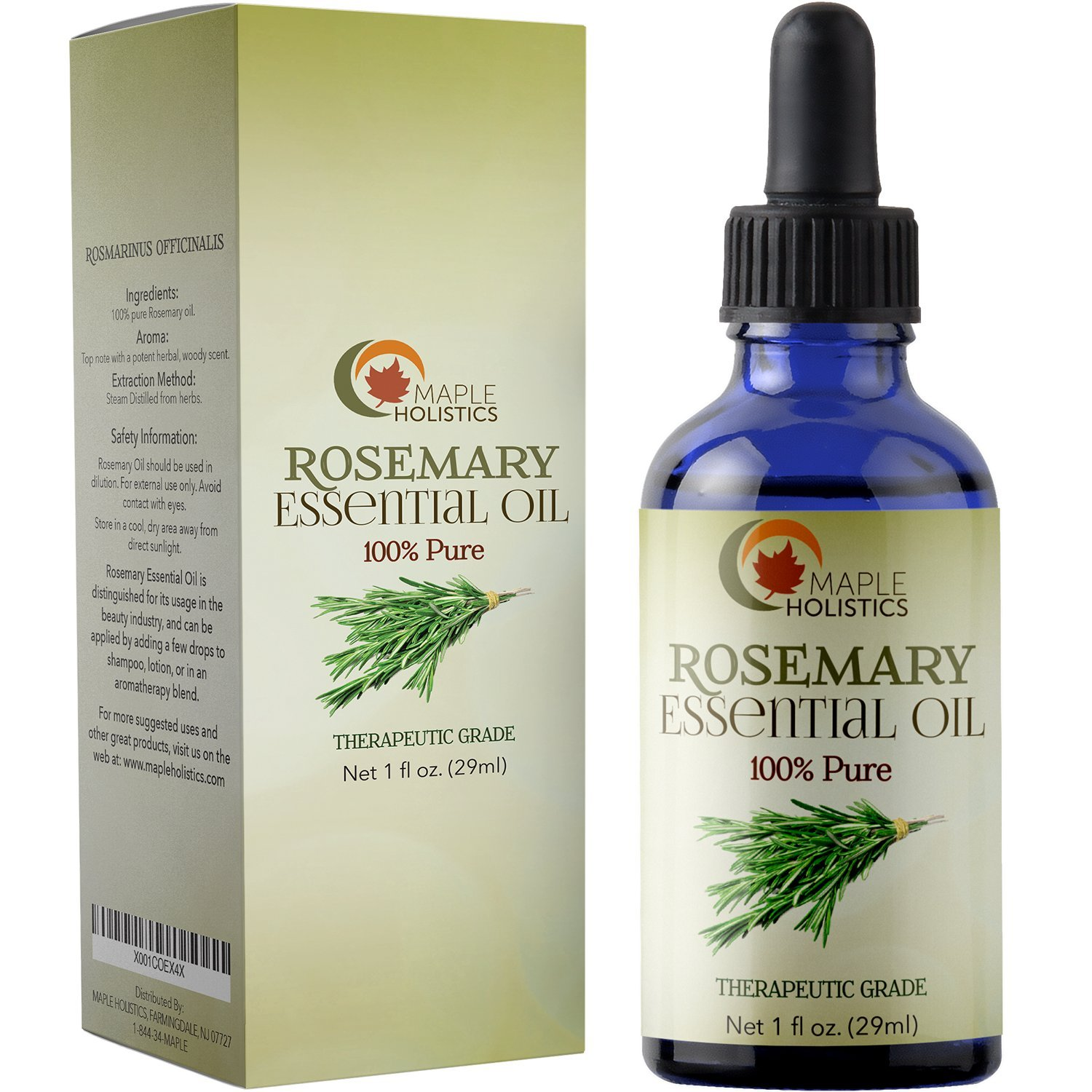 100% Pure Rosemary Essential Oil For Therapeutic Aromatherapy Stimulating  Scalp Treatment For Healthy Hair Growth
