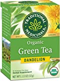 Traditional Medicinals Organic Green Tea Dandelion Tea (Pack of 6), Supports Healthy Liver Function, 96 Tea Bag Total