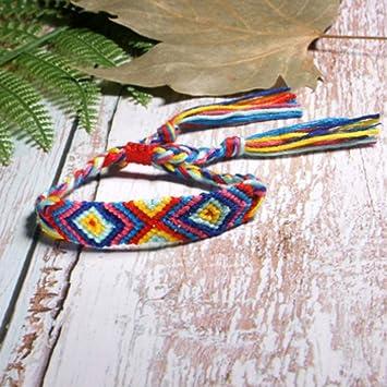 Amazon.com : JHSLNS Bracelet Bohemian Friendship Weave Wrap ...