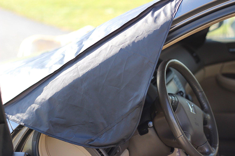 Amazon.es: Protector Parabrisas Coche - VIDEN Coche Funda Protectora Exterior con Magnetico, Antihielo / Nieve / Rayos UV, Cubierta de Parabrisas Parasol ...