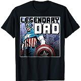 0b7c57f0 Amazon.com: Marvel Captain America Father's Day Honor Graphic T ...