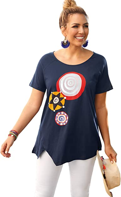 Bellísima by Venca Camiseta bajo asimétrico Tallas Grandes ...