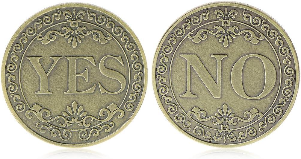 pi/èce comm/émorative Floral Oui Non Lettre Ornements Collection Arts Cadeaux Souvenir XUNXI Pi/èce comm/émorative