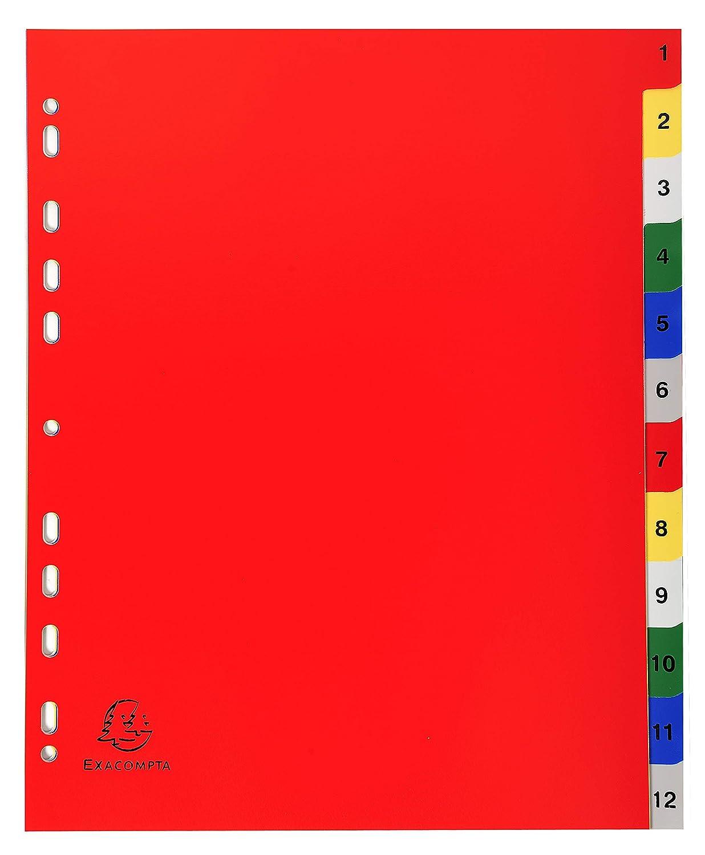 32x24 cm Multicolore Exacompta 2512E Divisori e Segnaletica