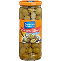 American Garden Green Olives, Whole, 450g