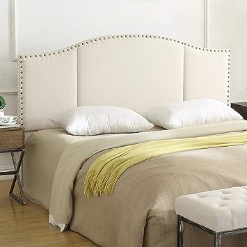 Amazon Com 24kf Middle Century Linen Upholstered Tufted King Size