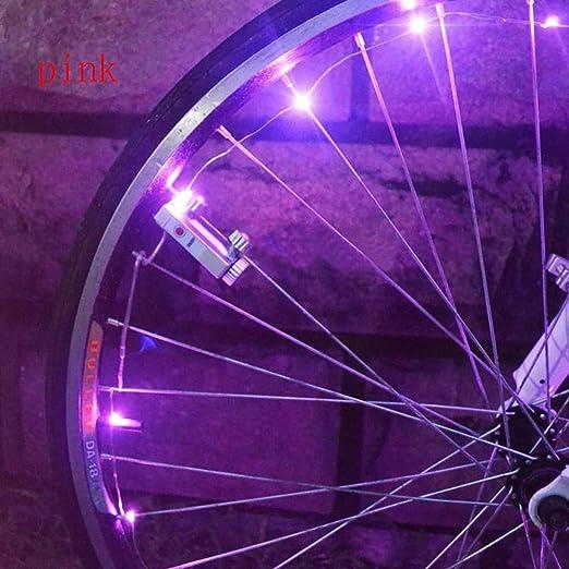MTB Bicycle Bike 20 LED Spoke Wheel String Strip Light Cycling Safety Rim Lamp