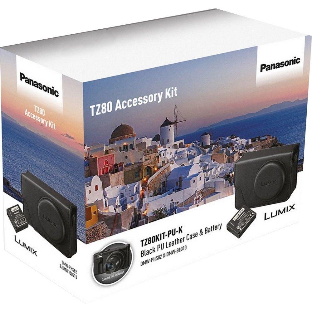 Panasonic /Étui en Cuir PU avec Batterie pour Appareil Photo Lumix TZ80/-/Noir