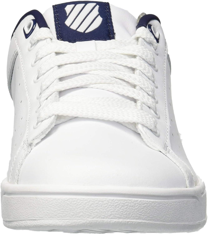 K-Swiss Men's Clean Court Cmf Fashion Sneaker White/Navy