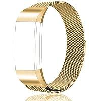 Tobfit Fitbit Charge 2 Bracelet (2 Tailles) Acier Inoxydable Milanaise un Replacement Bracelet pour Fitbit Charge 2 (No Tracker)
