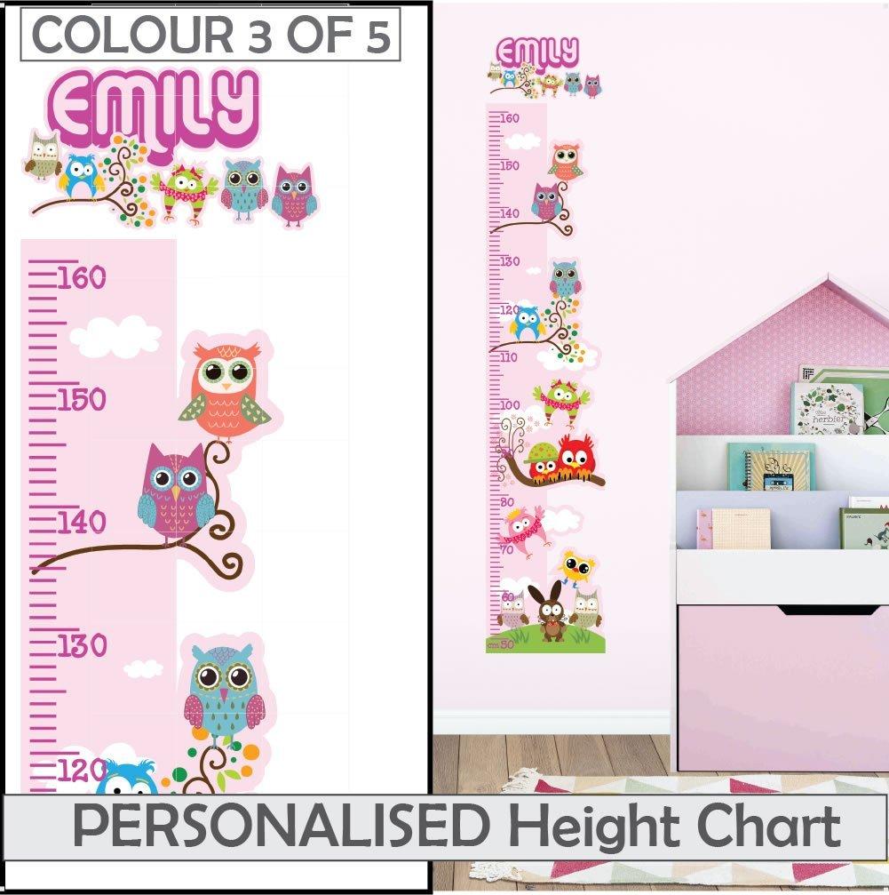 Personalised Name Bedroom Door Sticker Wall Girls Room Childrens Pink Kids 120