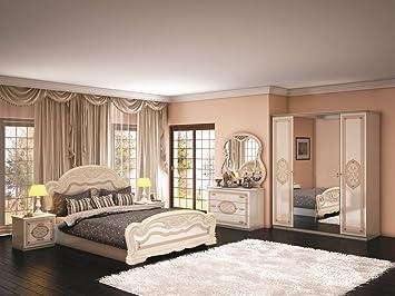 Schlafzimmer Lara beige creme weiss Barock Italia Italien ...