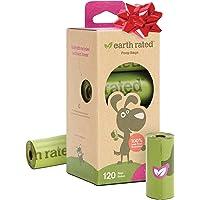 Earth Rated - Pack de bolsas para recoger excrementos de perro, Olor a Lavanda , 8 Rollos (120 unidades)