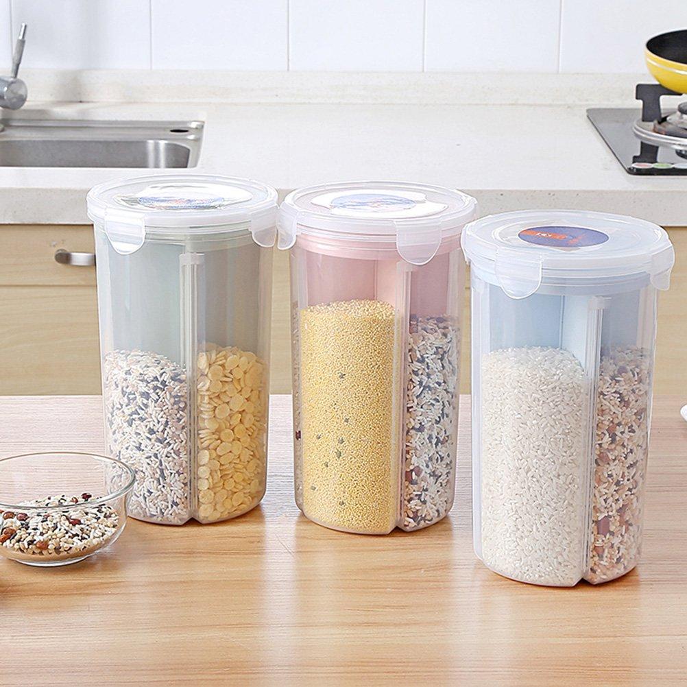 /L bestonzon gro/ß M/üsli Beh/älter Keeper Kunststoff verstauen Frischhaltedosen gefriergeeignet Space Saver geeignet f/ür M/üsli Mehl Zucker Kaffee Reis Snacks Gr/ö/ße/ gr/ün