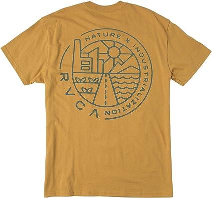 RVCA Hombre M410QRHE Manga Corta Camiseta - Marrón - Small: Amazon.es: Ropa y accesorios