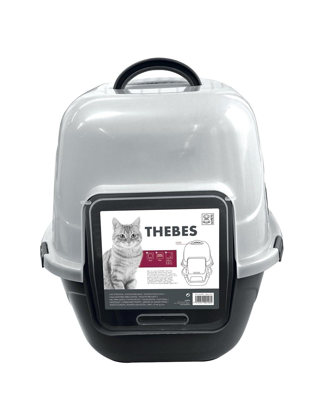 MPETS m-pets Thebes higiénico para gato negro/blanco: Amazon.es: Productos para mascotas