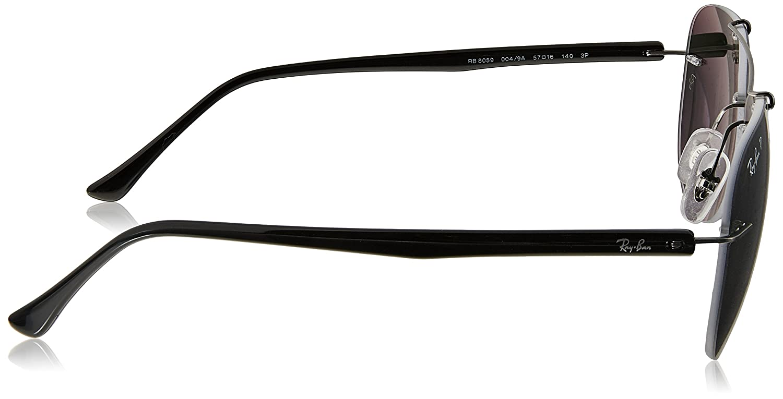 RAYBAN Men s 0RB8059 004 9A 57 Sunglasses, Gunmetal Polargreen   Amazon.co.uk  Clothing eea7fb40e8d0