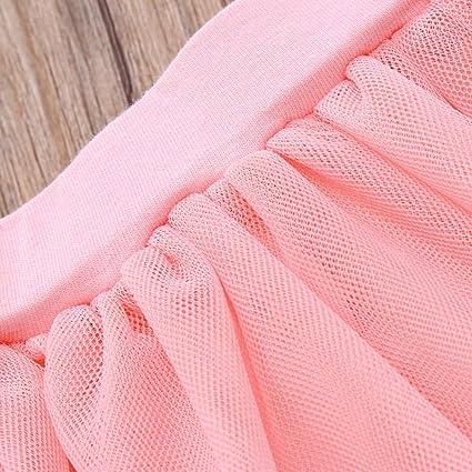 5f92ebf0c Amazon.com  Lurryly Newborn Baby Girls Romper+Tutu Skirt Jumpsuit ...
