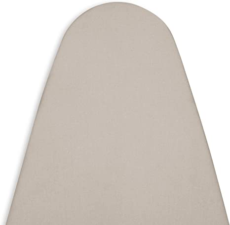Plain Colors Encasa Homes Replacement Ironing Board Cover with Extra Thick Pad Heat Reflective Elasticated, Fits Standard Wide Boards of 18 x 49 inch Scorch Resistant Grey Heavy Duty