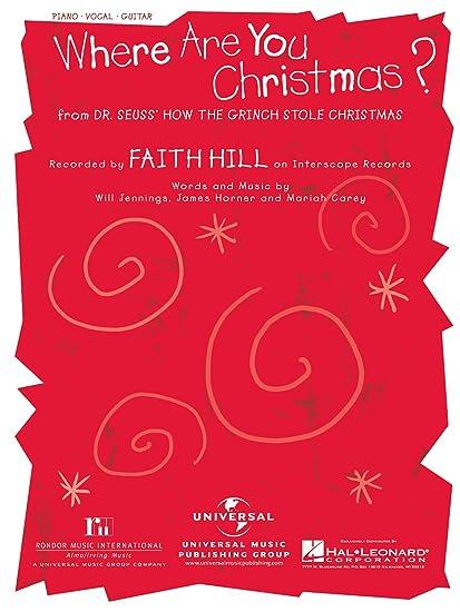 Where Are You Christmas.Where Are You Christmas Faith Hill
