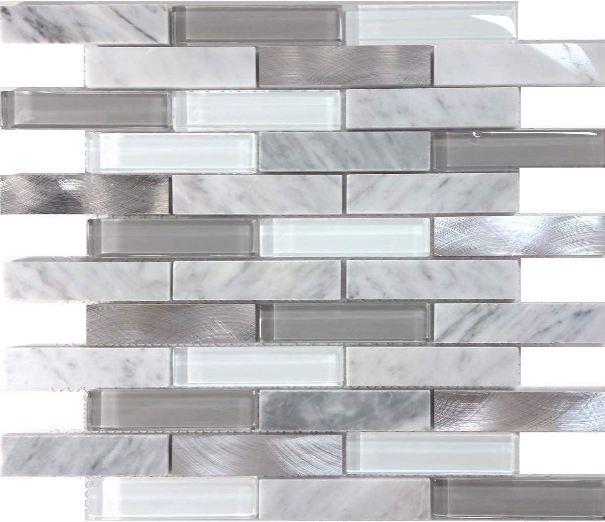 - Modket TDH219MO White Carrara Marble Stone Blended Metallic