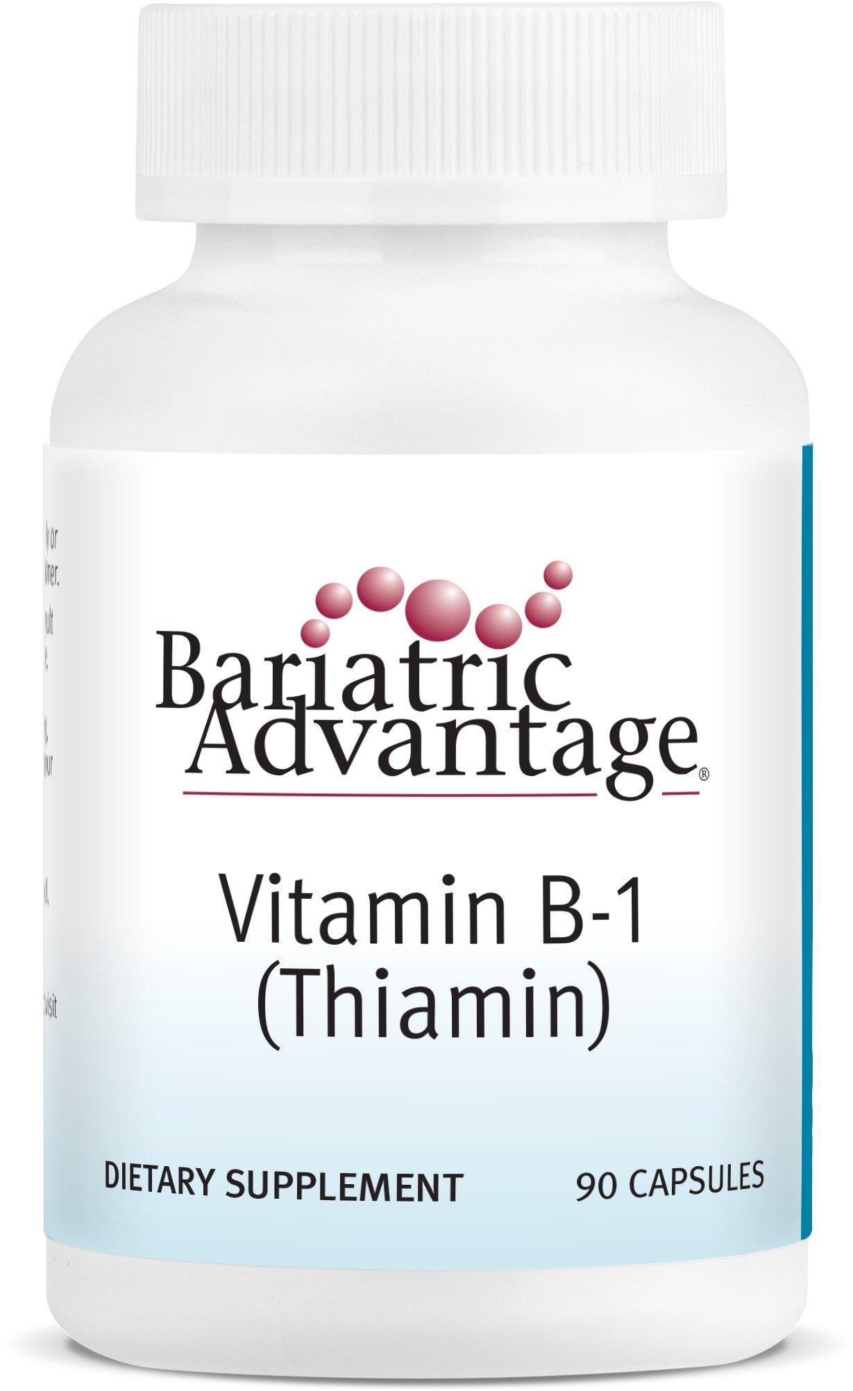 Bariatric Advantage - B-1 Thiamine Capsules, 90 Count