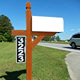 Vertical Mailbox Address Plaque, Reflective 911 Plate, Most Visible Mailbox Address Marker Money Can Buy!