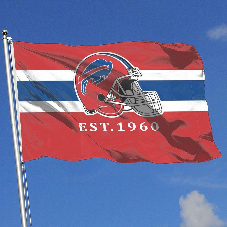 Buffalo Bills Garden Flag Holiday Outdoor Decor Sports Banner for Home Yard Lawn 3x5 FT
